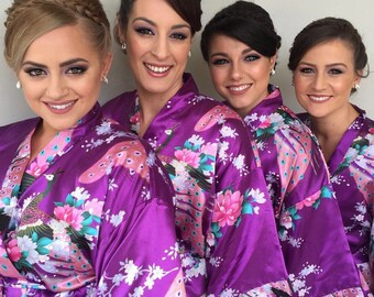 5b802e62e Wedding Dressing Gown - Kimono - Bridesmaid Robe - Bridal Party Robe -  Short Robes for Bachelorette party - Bride Robe - Wedding kimono