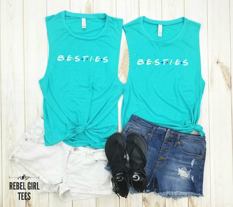 Gift for Friends Besties White Tees Friends TV Show Women/'s Shirt Friends Tees. Friends shirts Friends T-Shirt Besties Tanks