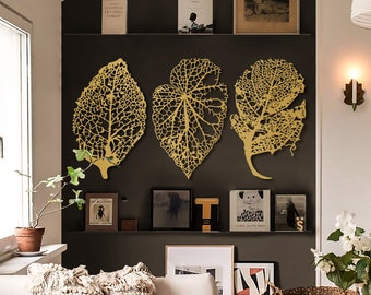 Large Leaf Wall Art Etsy