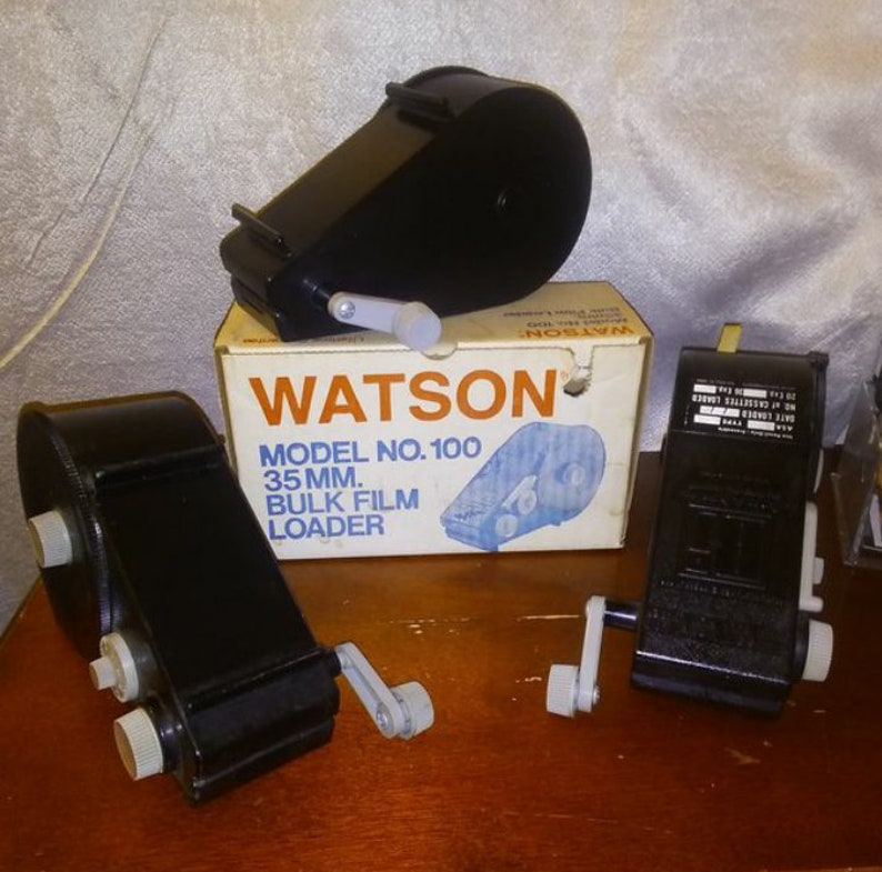 Vintage Watson Model No 100 Bulk Film Loaders Photography Accessories Lot of 3