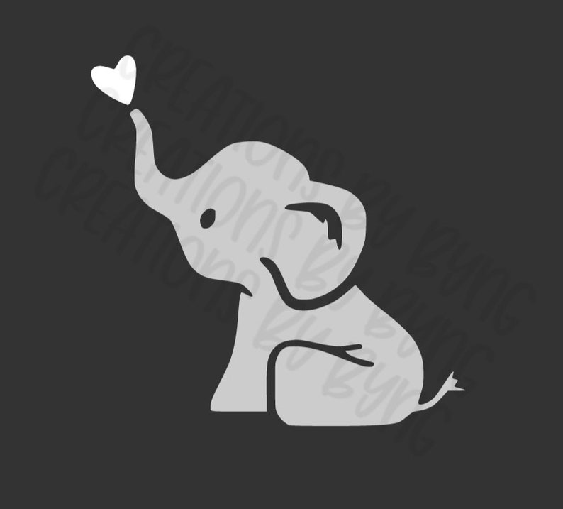 Baby Elephant svg png Files for Cricut/Silhouette Digital ...