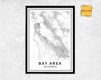 Bay area map | Etsy