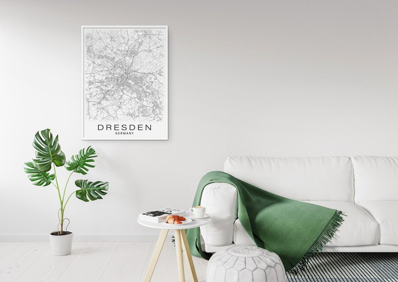 Printable Map of Dresden Germany Instant Download City | Etsy