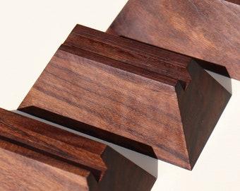 Pyramid Wood Slab Stand