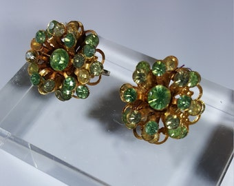 """Vintage """"Atomic Age"""" style clip earrings"""