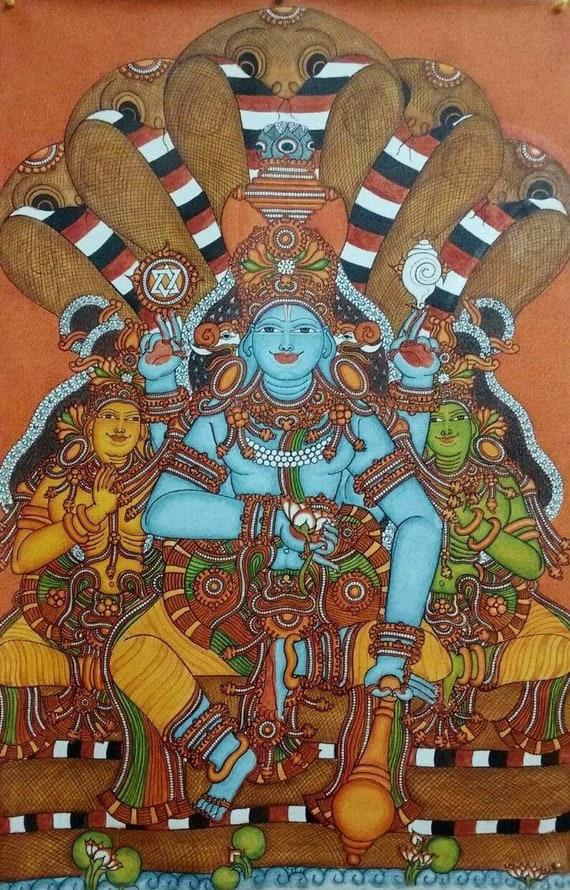 Anandhasana Unique handmade Kerala mural painting