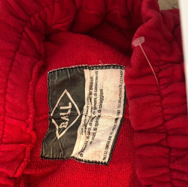 80s La dolce vita University Italy Sport cotton sweatpants sports track pants streetwear jogging athletic pants men size M
