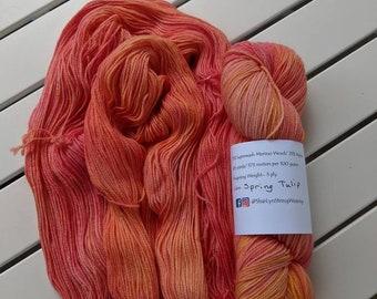 SPRING TULIP Hand dyed yarn