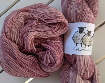 ANTIQUE MAUVE Hand dyed yarn