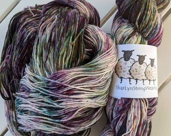 EGG PLANT Hand dyed yarn