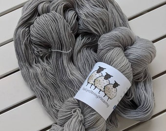 DOVE GREY Hand dyed yarn