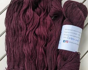 CABERNET Hand dyed yarn