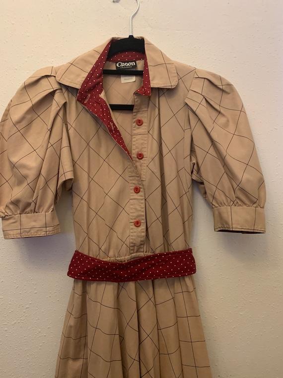 Vintage Choon California 80's Does 50's Dress - image 7