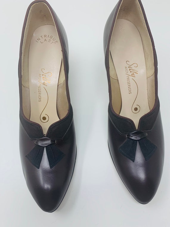 Vintage Selby 7.5AAA Chocolate Brown Leather Dead… - image 3