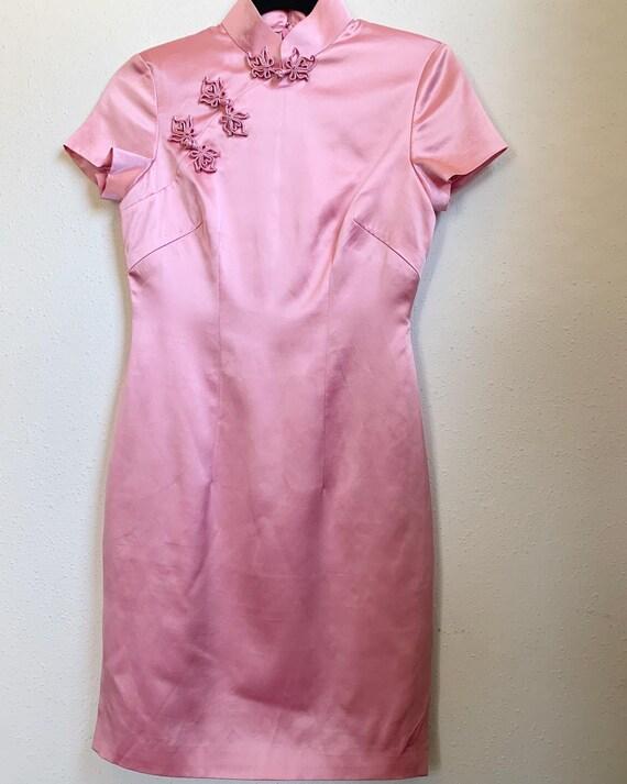 Vintage Pink Cheongsam Dress