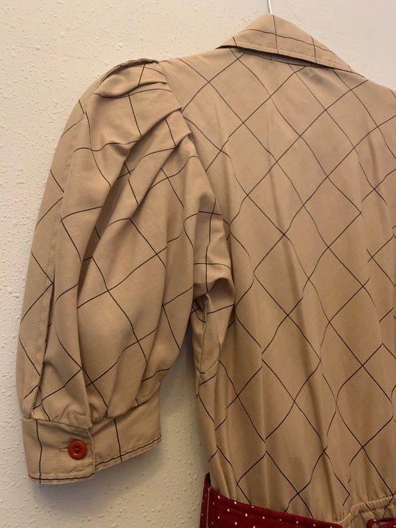 Vintage Choon California 80's Does 50's Dress - image 8