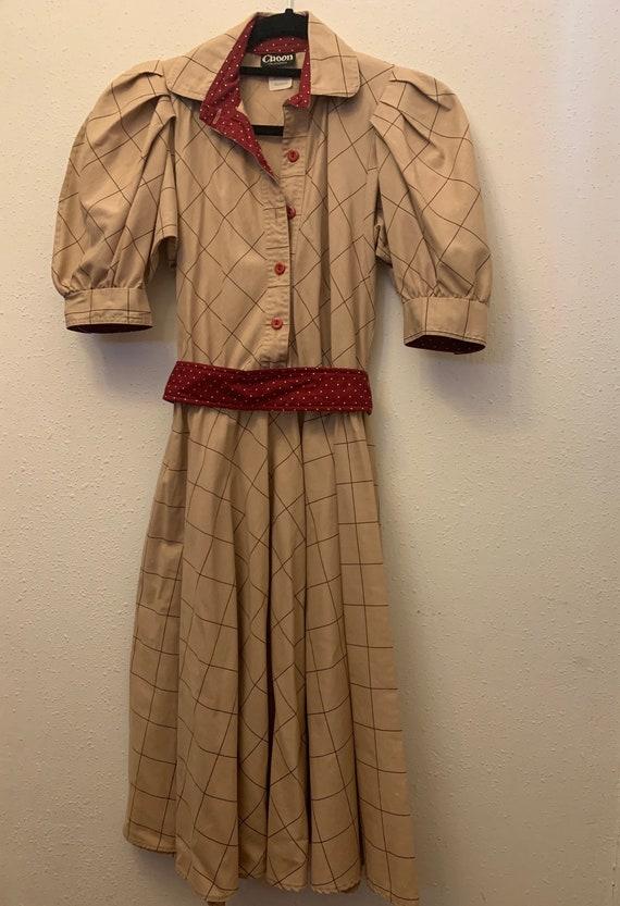 Vintage Choon California 80's Does 50's Dress - image 5
