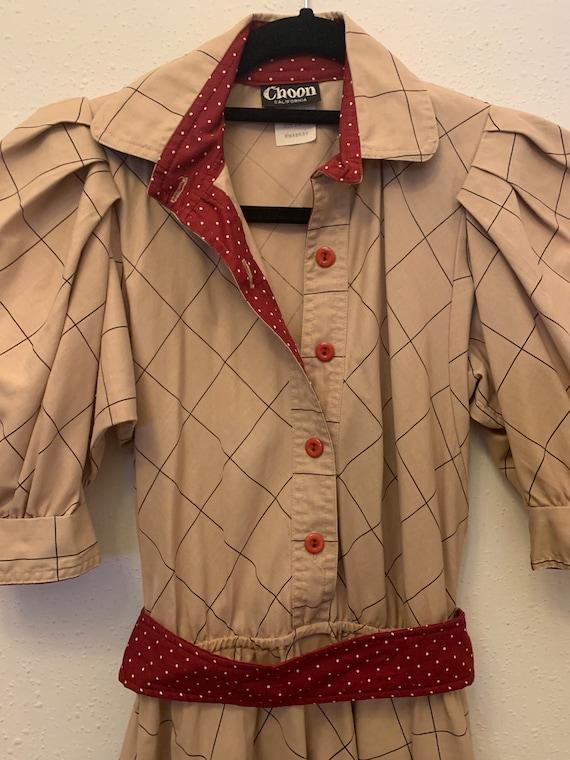 Vintage Choon California 80's Does 50's Dress - image 2