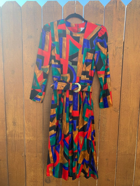 Vintage Jessica Howard Abstract Dress~Size 4
