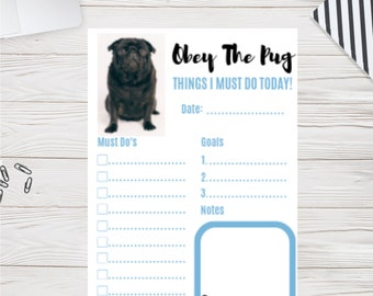Pug Calendar Etsy