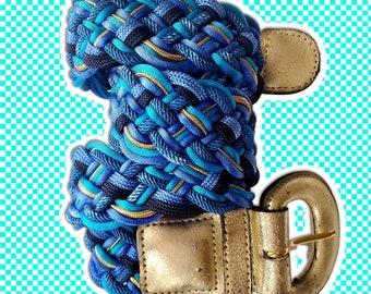 Vintage 90/'s Fabric Braided Belt  87 long