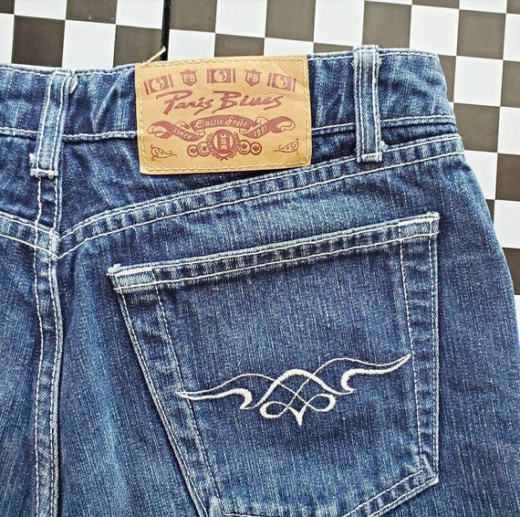 Vintage 90/'s Y2K Bell Bottom Jeans By Paris Blues Sz 9