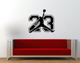 Michael Jordan 23 Jordan Sign Jumpman Basketball Wall Decal Vinyl Sticker LB23