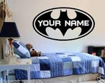 Batman Wall Decal Etsy