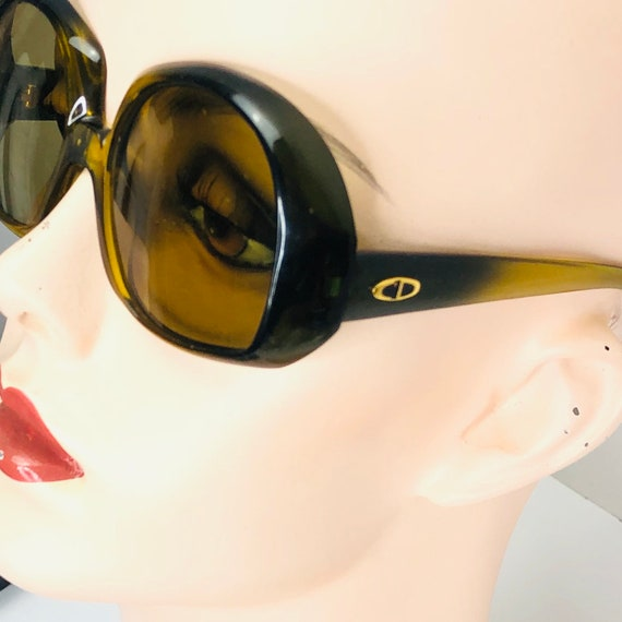 Vintage Oversized Optyl Dior Sunglasses Square Tra