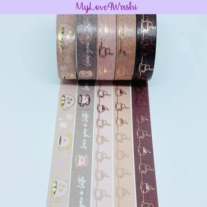 coffee crafting love you a latte washi tape coffee lover kawaii planner accessories Latte Washi Tape scrap booking