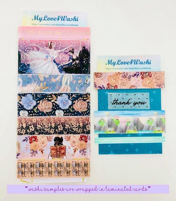 Washi Tape Sample pinkyellow Flowers 39