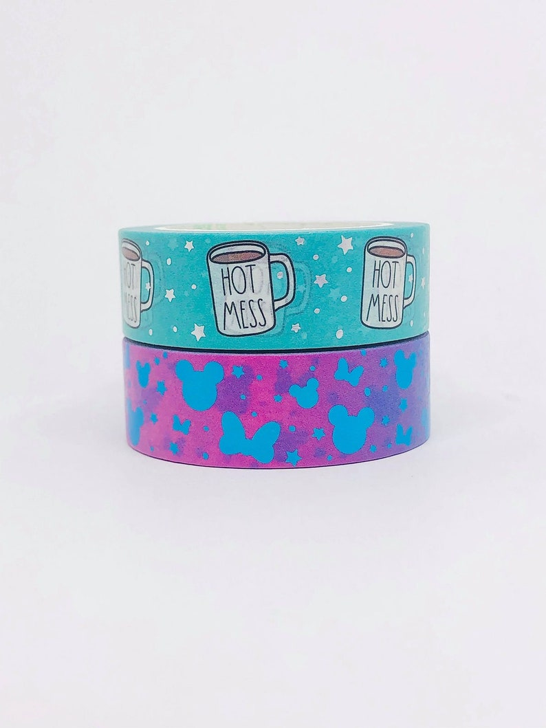 Cricket Paper Co Scrapbooking Disney Hot Mess Washi Tape Sample Mickey Minnie Mouse Ears Washi Tape Sample Planning