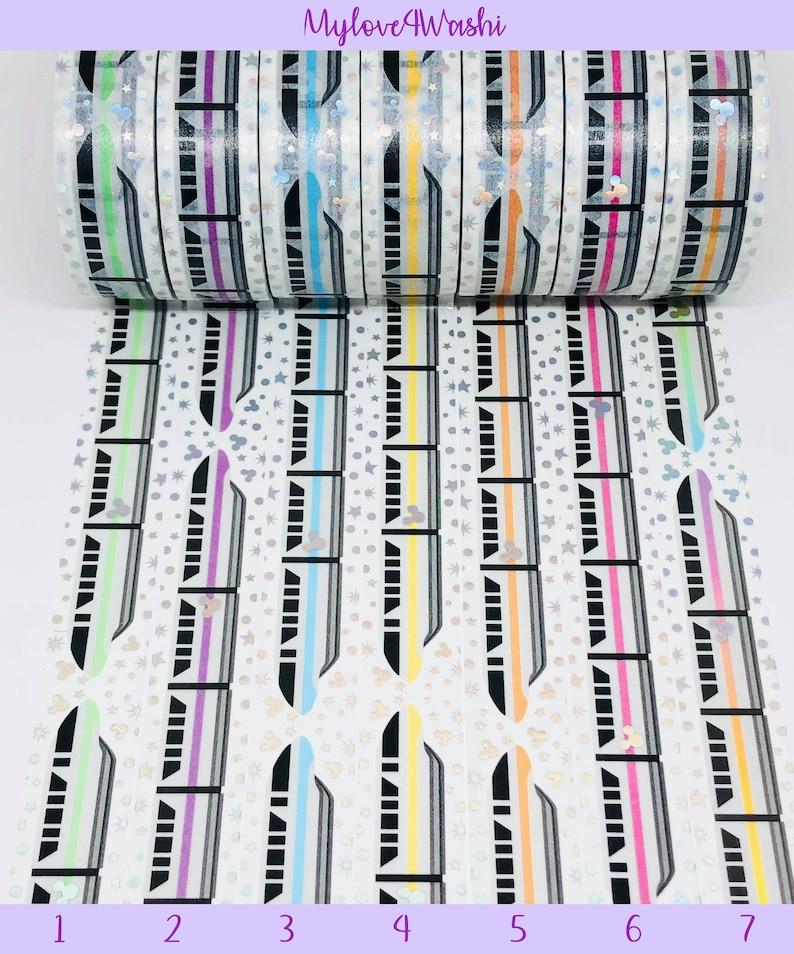Scrapbooking Transportation Train Washi Tape Samples Disney Monorail Washi Tape Samples Planning NoWhiteSpace Washi Tape Samples