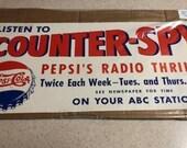 1940 39 s Pepsi Cola Poster - Pepsi Radio Thriller