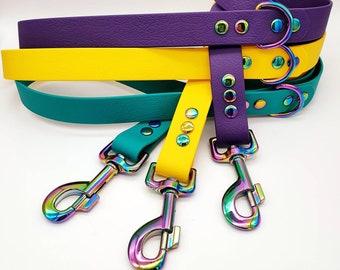 Biothane® Dog Leash   I    water- & mudproof    I   stays odor-free   I   vegan   I   made to order  I  2ft (60cm) - 10ft (300cm lengths)