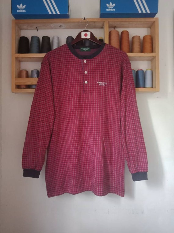 Munsingwear Sweatshirt Half Batton Large Size Jump