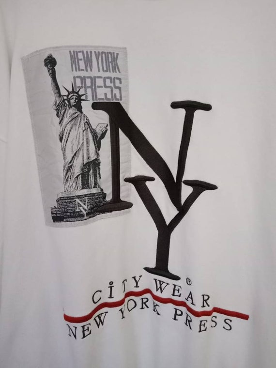 Vintage Rare New York Press Embroidery Big Logo X… - image 2