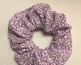 Purple Swirls Scrunchie