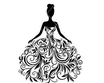 Ball Gown Clip Art Etsy