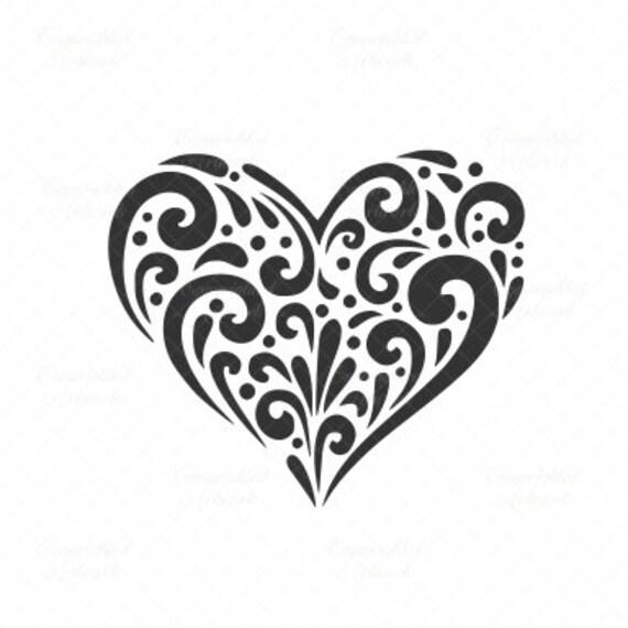Heart Svg Heart Cut File Heart Vector Flurry Heart Heart Etsy