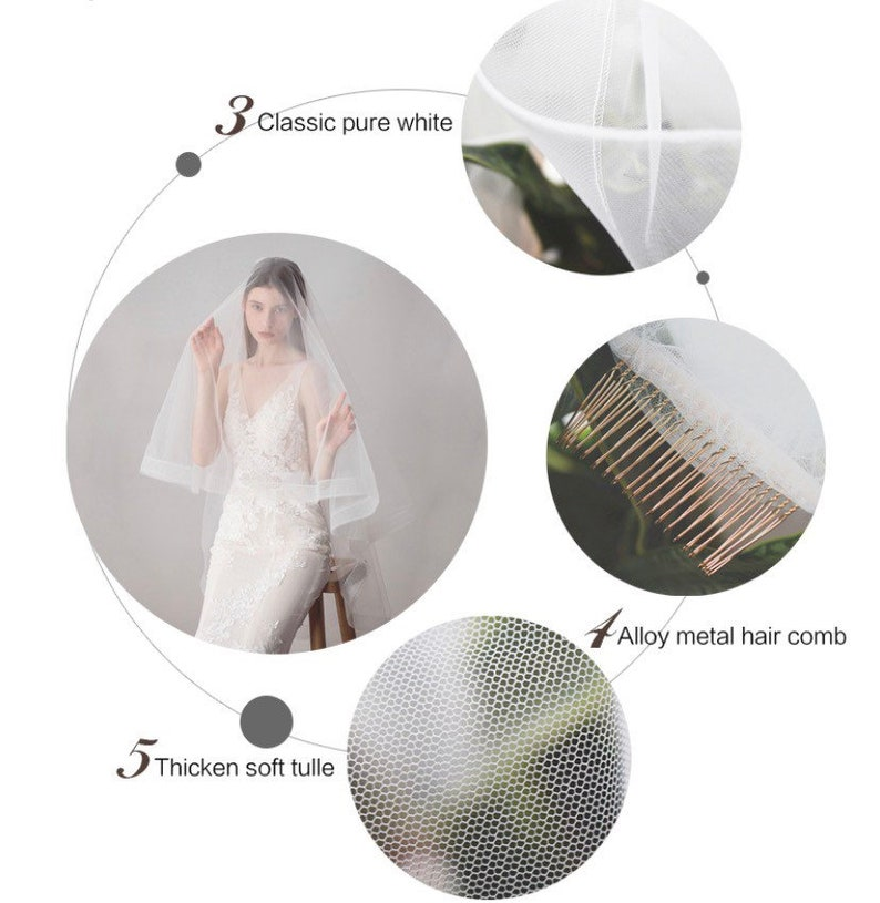 2-Layer Soft Tulle Cathedral Bridal Wedding Veil With Comb 160cm120cm Veil Ivory Bridal Veil