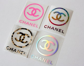 a504d00e1e62e9 Chanel logo iron on, cc round logo heat transfer decal, chanel iron on patch,  cc i spired iron kn applique tshirt hoodie pillow designs