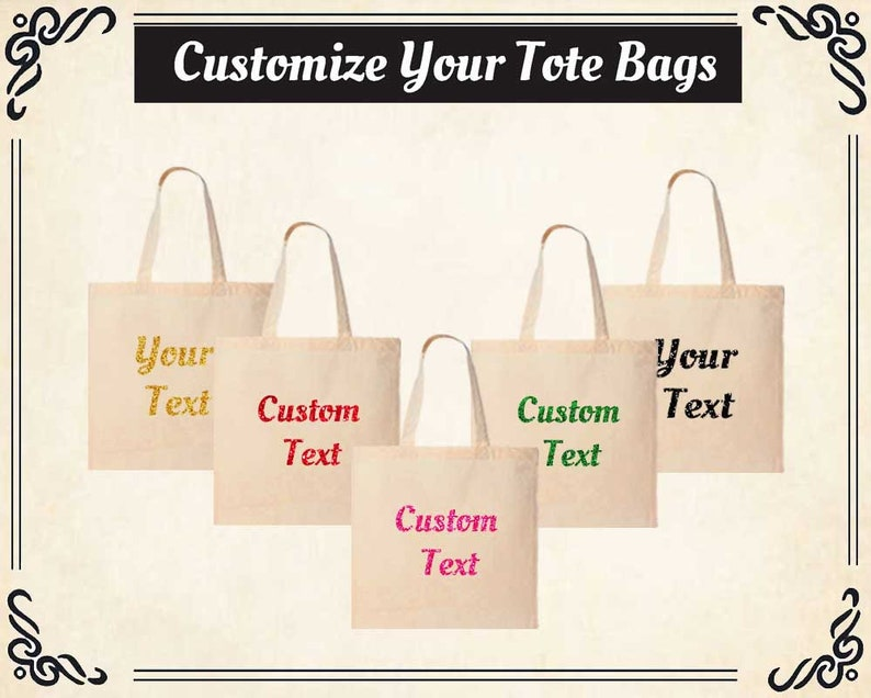 Perfect Gift Custom Printed Cotton TOTE BAG Personalised TEXT PHOTO Print