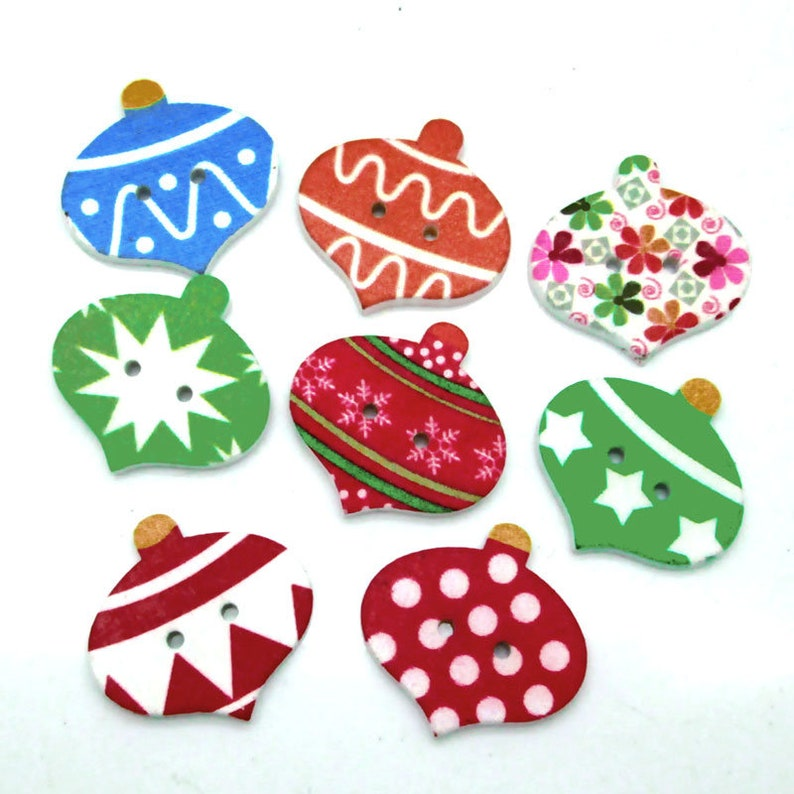 Wooden buttons sewing scrapbooking Mixed-color crafts Coat accessories 30mm