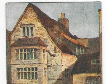 Max Hofler No 1918 Printed by George Pulman London Unused Postcard like Printed postcard Vintage England Mermaid Street Rye Postcard