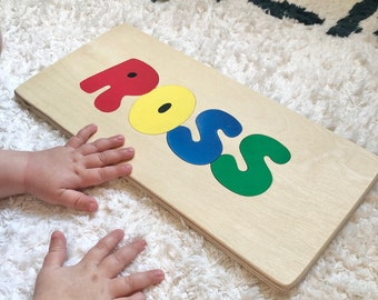 Personalized name puzzles, montessori, wooden, puzzles for children, gifts for toddlers, baby shower, toddler birthday, name sign, plaque