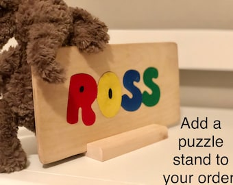 Puzzle Stand for Wooden it be Lovely's Handmade CHildren's Puzzles