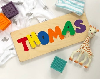 Personalized name puzzles, wooden name puzzle, name puzzle, puzzles for children, gifts for toddlers, baby shower gift, 1st birthday gift