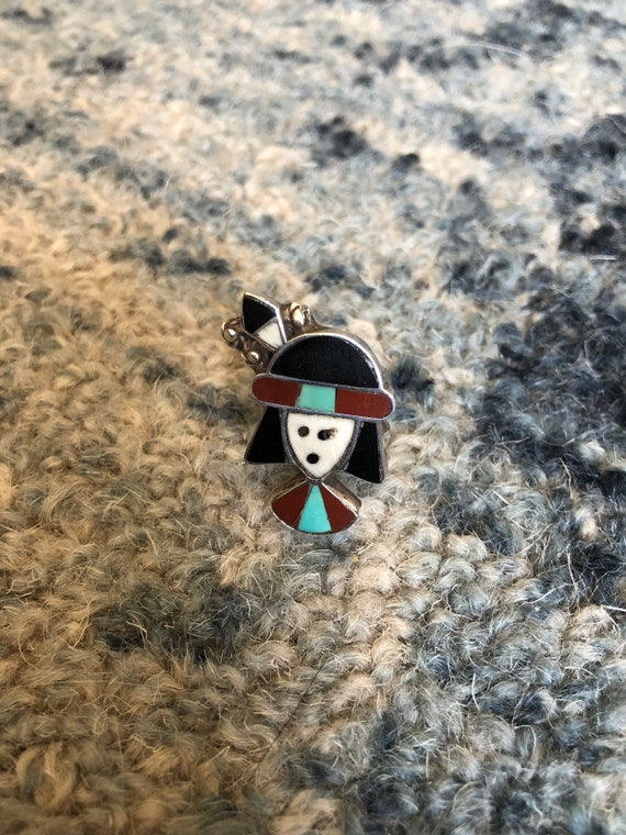 1960's Vintage Snoopy Zuni Inlay Ring sz 4 see me… - image 3
