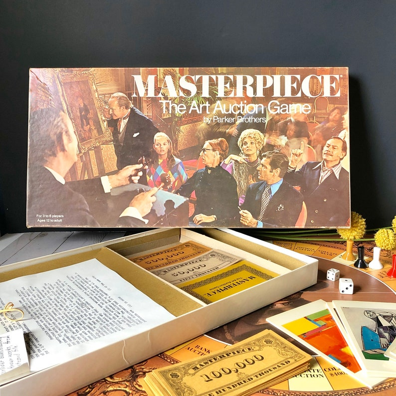 Vintage Masterpiece Board Game  1970 Art Auction Game By image 0
